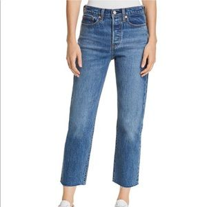 Levi's wedgie crop straight jeans - love triangle